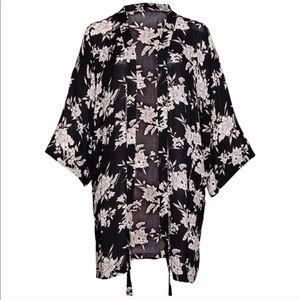 Spiritual Gangster Maya Floral Kimono Black